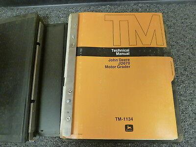 John Deere 670 Motor Grader Shop Service Repair Technical Manual Tm1134