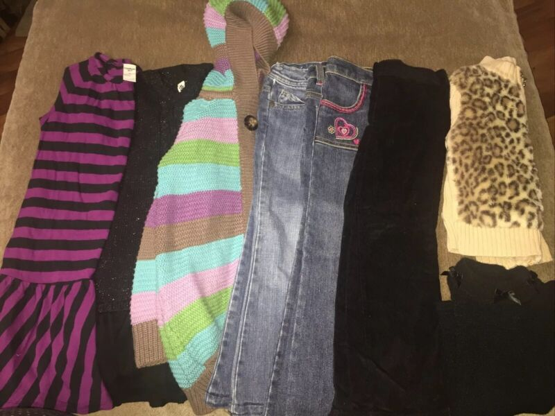 Girls Size 4T Fall Winter Clothing Lot 9 Pieces Assorted Brands