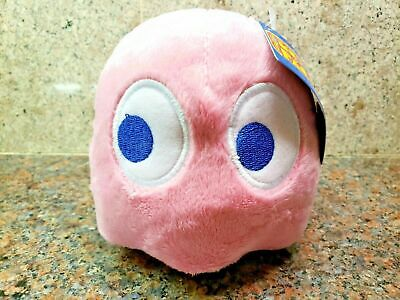 NEW Ms Pac-Man Pink Pinky Ghost Plush Toy Stuffed Doll Figure Pacman 2018