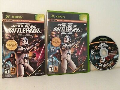 Star Wars: Battlefront II 2 Microsoft Xbox 2005 Complete  Free Shipping!