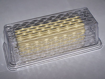 NEW Economy Clear Plastic Textured Single Stick Butter Dish