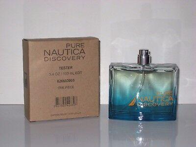 PURE NAUTICA DISCOVERY BY NAUTICA TESTER 3.4 OZ EDT SPRAY FOR MEN.