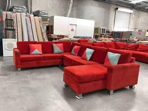 TODAY DELIVERY BIG RED U modular corner sofa lounge SALE