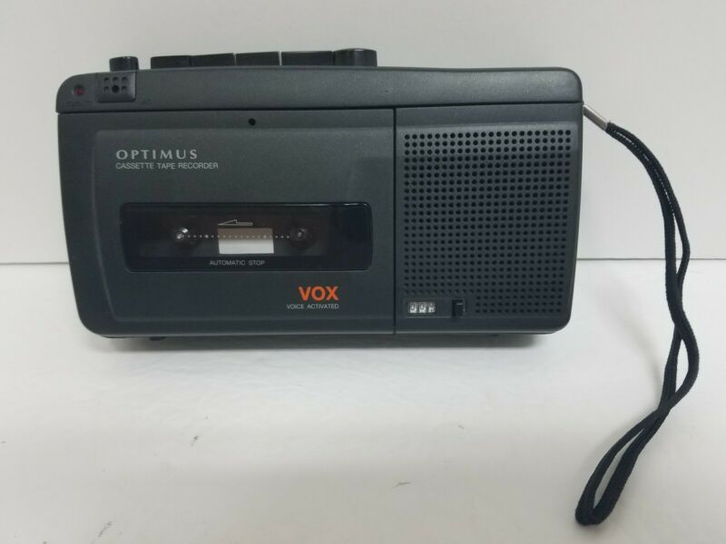 Vintage OPTIMUS Voice Activated VOX Cassette Tape Recorder CTR-116 TESTED