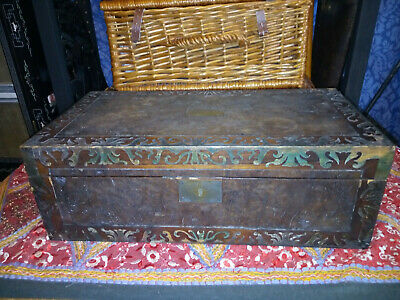 Large Antique Writing Slope with Secret Compartment