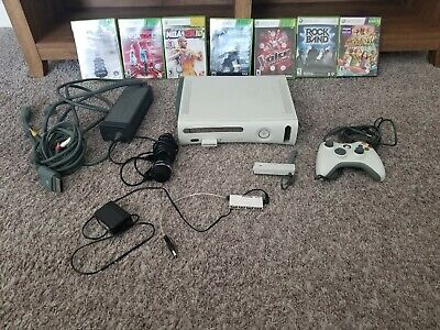 LOOK! Xbox 360 60GB Bundle, 1 Controller, 7 Games, Network Adapter, Mic, USB Hub for sale  Shipping to India