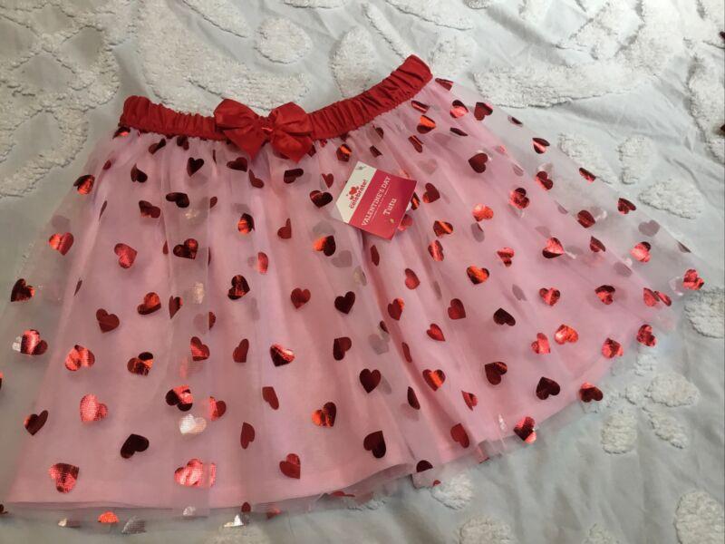 Valentines Special Celebrate 5T Tutu-Mesh Skater Skirt Red Spark Girls  Hearts
