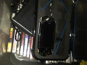 1 psp with games and charging cables