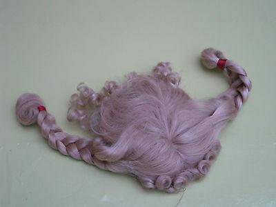 1 große Puppen Perücke, blond mit Locken und Zöpfe
