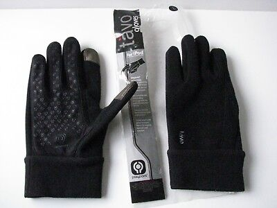 Tavo Gloves for iPod Midweight Winter Black Fleece Playpoint Mens L Size Large