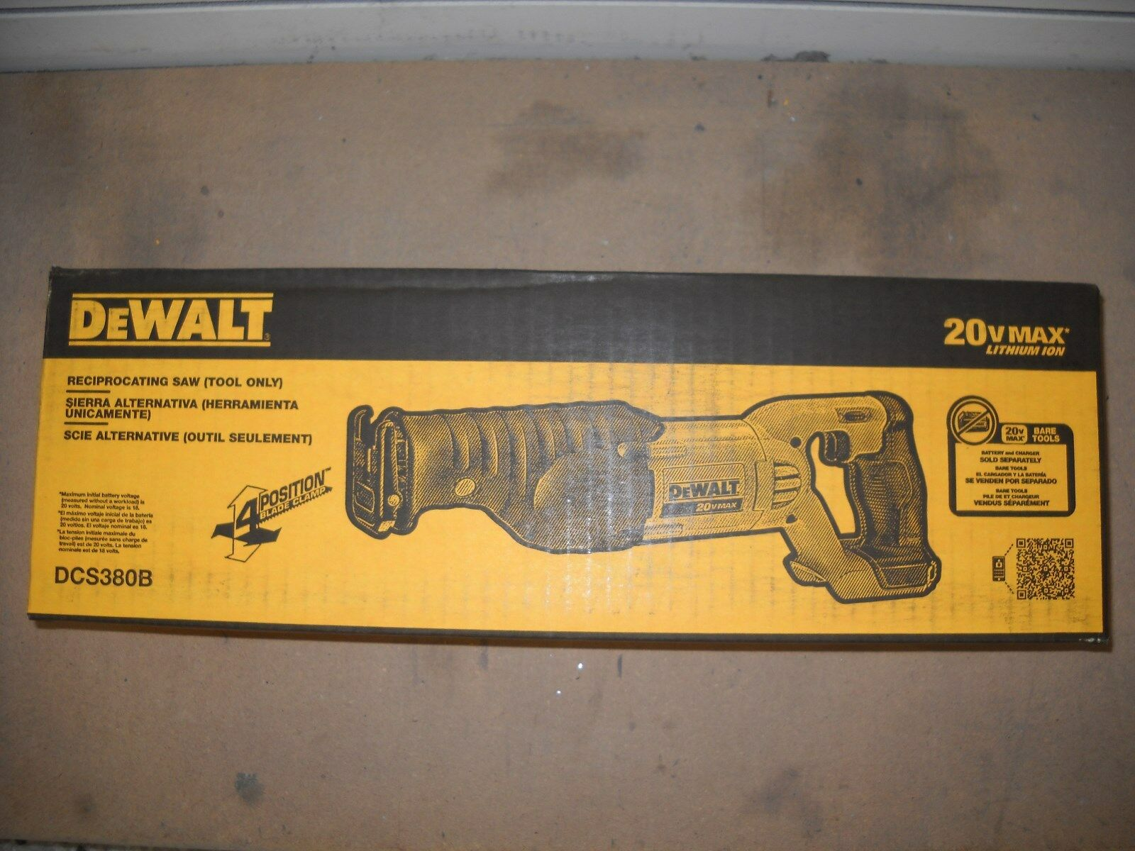 DEWALT DCS380B 20-Volt MAX Li-Ion Reciprocating Saw, Bare To