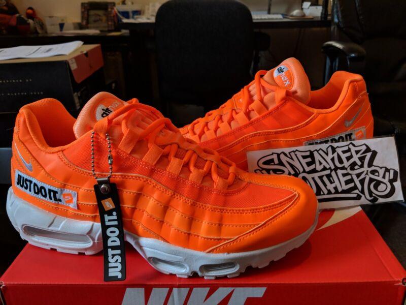 703c320823 Nike Air Max 95 JDI Just Do It Total Orange Black White Running Men's AV6246 -