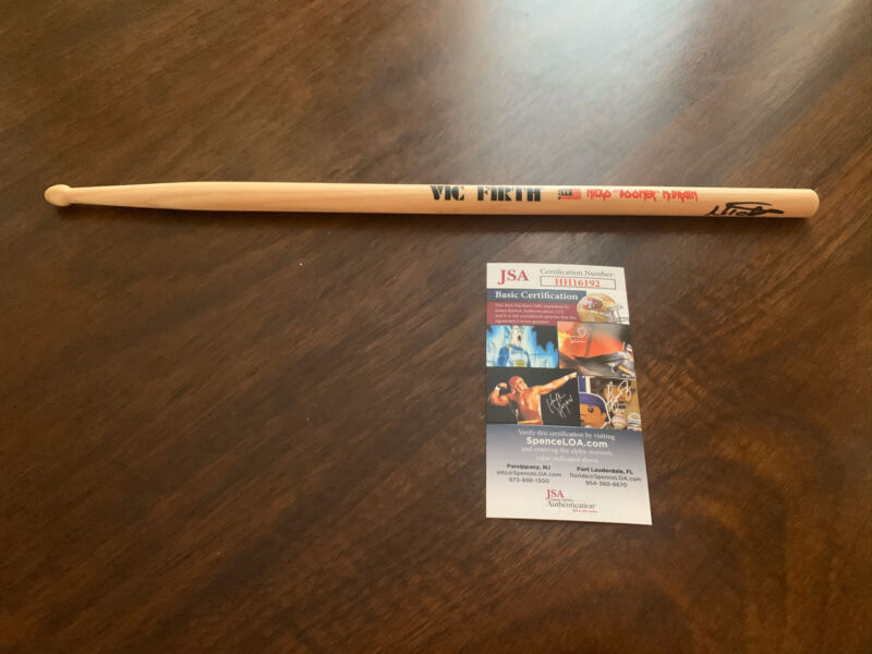 Nicko McBrain Iron Maiden Signed Vic Firth Signature Drumstick JSA Cert# HH16192