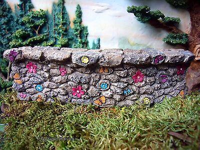 Whimsy Fairy Flower Wall WS 1678 Miniature Fairy Garden