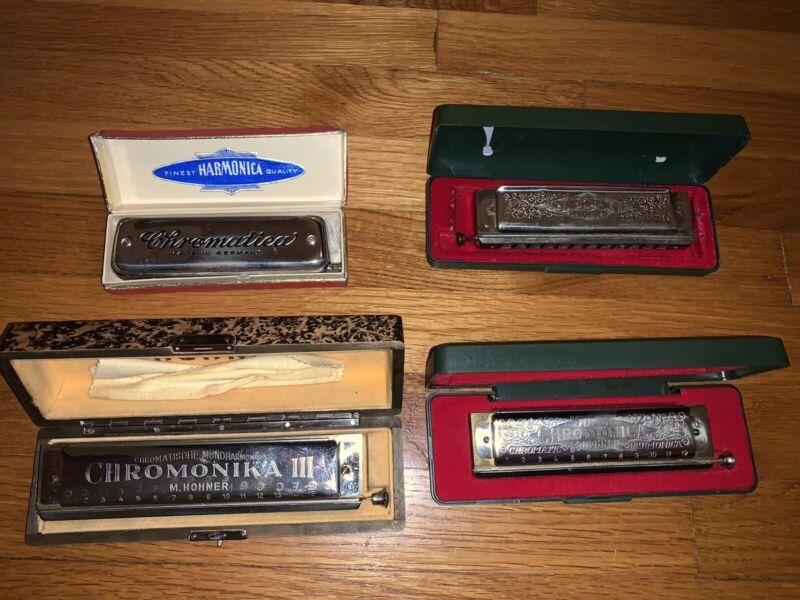 4 Harmonicas (Hohner And Chromatica)