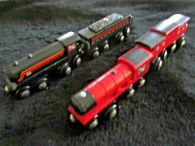 Circo Steam Engines w/ Caboose and Coal Car In Great Shape Compatible w/ Thomas