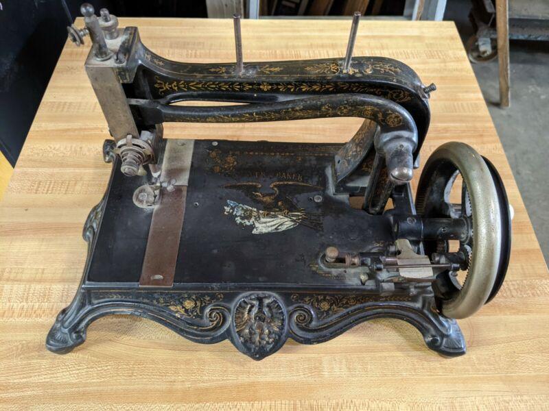 Antique Grover & Baker Hand Crank Sewing Machine Vintage