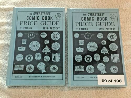 Overstreet Comic Book Price Guide #1 Facsimile SIGNED HB & REG 2nd Print 69/100