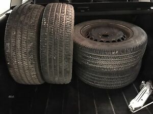 195/65/15 Goodyear Tires and Steel Rims