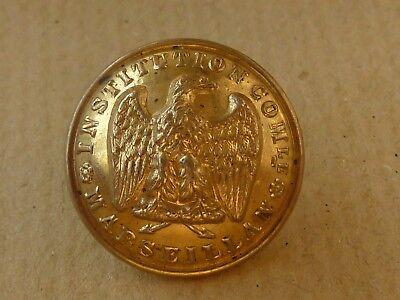 BOUTON D'UNIFORME INSTITUTION DE MARSEILLAN À L'AIGLE 2nd EMPIRE Napoléon III d'occasion  Expédié en Belgium