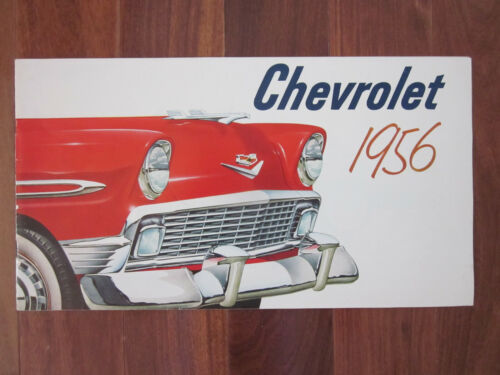 1956 CHEVROLET Full Color Illustrated Automobile Brochure NM