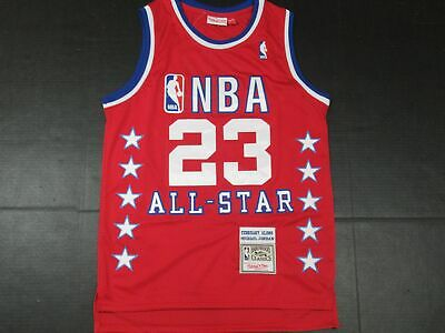 New Michael Jordan #23 Chicago Bulls 1989 NBA ALL-STAR GAME M&N Jersey Red