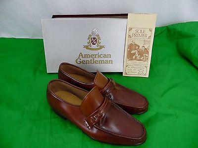 nos vintage never worn American Gentleman brown loafers 10.5 B hand lasted nice!