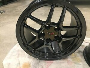 C5 Z06 corvette black chrome replica wheels