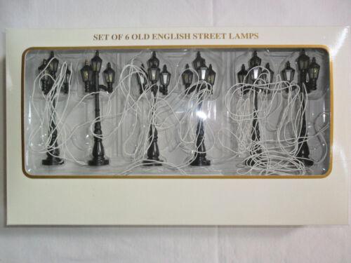 "Set of 6 Old English Street Lamps Christmas Winter Glen by Dillards Lot 4"""