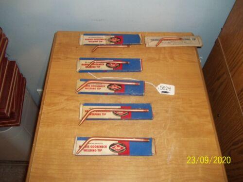 6)Harris Original 1590, 5090 Welding & Brazing Tip Size 2, 4,6,7,