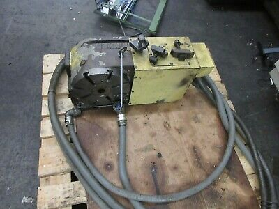 Nikken 4th Axis 10 Inch Rotary Table Indexer Cnc-250 Dcf Fanuc 11m Motor