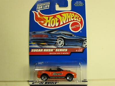 HOT WHEELS MAZDA MX5 MIATA REESE'S PEANUT BUTTER CUPS CAR NEW IN PACAKAGE