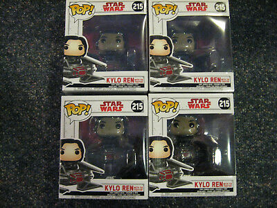 Star Wars Kylo Ren Funko Pop  219 With Tie Fighter Vhtf   The Last Jedi