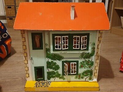 Vintage Dolls House With Windows And Stairs