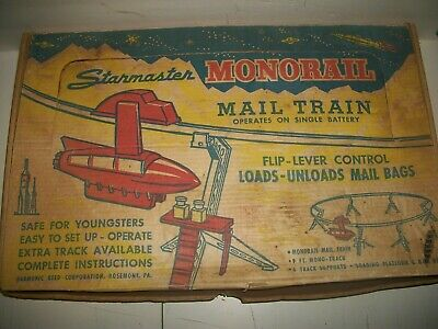 Vintage Starmaster MONORAIL MAIL TRAIN Battery operated in orig box works!
