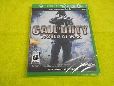Call of Duty World at War Xbox One & 360 Brand New FACTORY SEALED