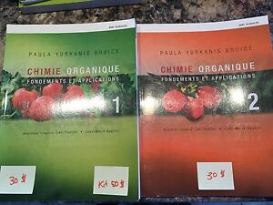 Chimie organique 1 et 2 - Paula Yurkanis Bruice - NEUF