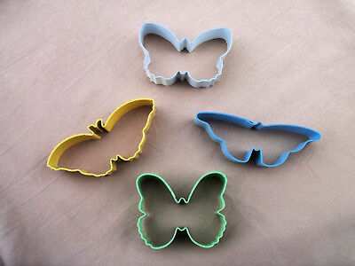 Baby Shower Cookies Cutters (4 Butterfly's Colors Cookie Cutters Baby Shower Gifts Pastry Cutter Sugar)
