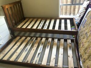 Single bed frame with trundle