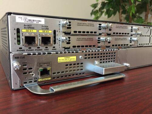 CISCO 2821 256D/128MB NM-CUE VOICE MAIL 7.0.4 CCNA CCNP LAB KIT  CME 8.6,