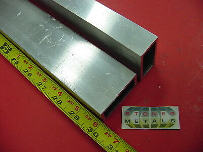 5 Pieces 1x 2x 18 Wall Aluminum Rectangle Tube 30 Long 6063 T52 Tubing