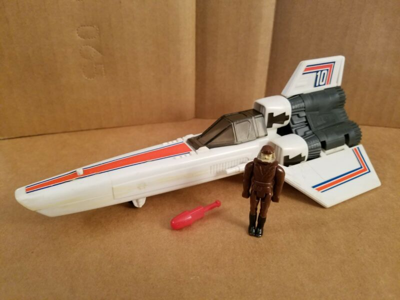 Vintage 1978 Viper ship + Pilot + Firing Missile Battlestar Galactica MATTEL