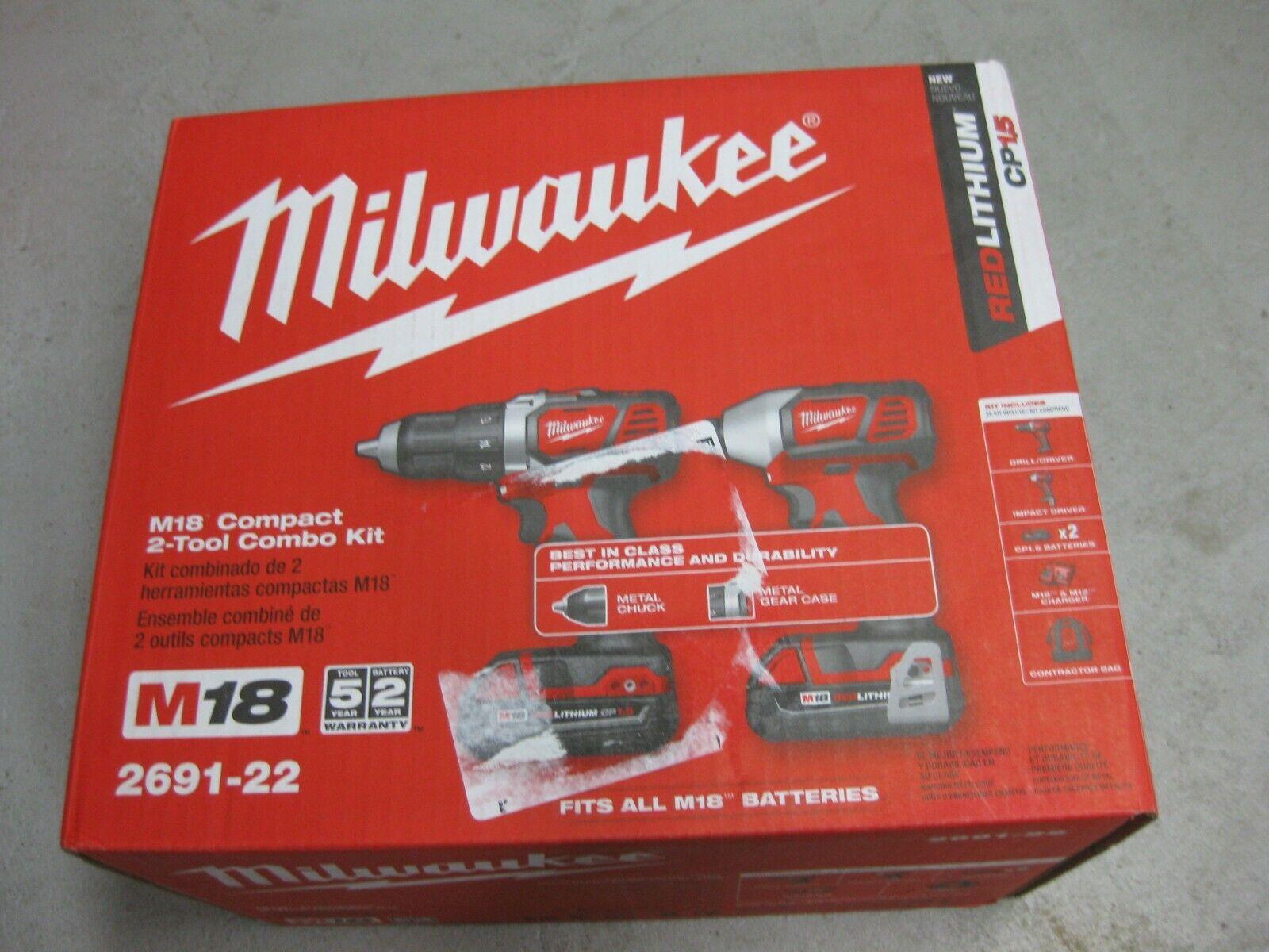 Milwaukee 18V Compact 2 piece Combo Kit