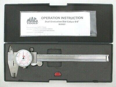 Mac Dial Caliper 0-6 150mm Dual Scale Sae Metric Inner Outer Nice Dc6027