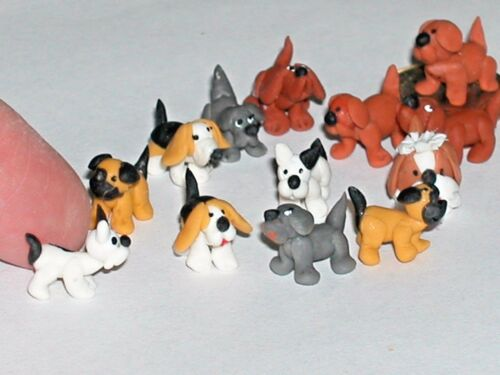 1pc miniature dollhouse little Tiny puppy Dog loose locket animal nail art mini