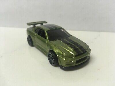 2018 Hot Wheels Loose Green Nissan Skyline GT-R R34 BNR34
