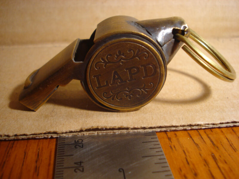 LAPD Los Angeles Police Deptment  714 Solid Brass Whistle