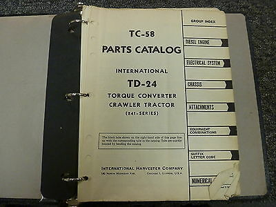International Harvester Ih Td24 241 Series Crawler Tractor Parts Catalog Manual