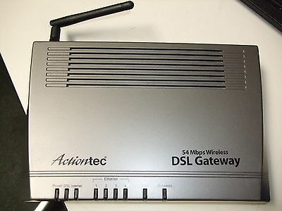 New Actiontec GT704WG 54 Mbps 4-Port 10/100 Wireless G Router modem DSL Gateway