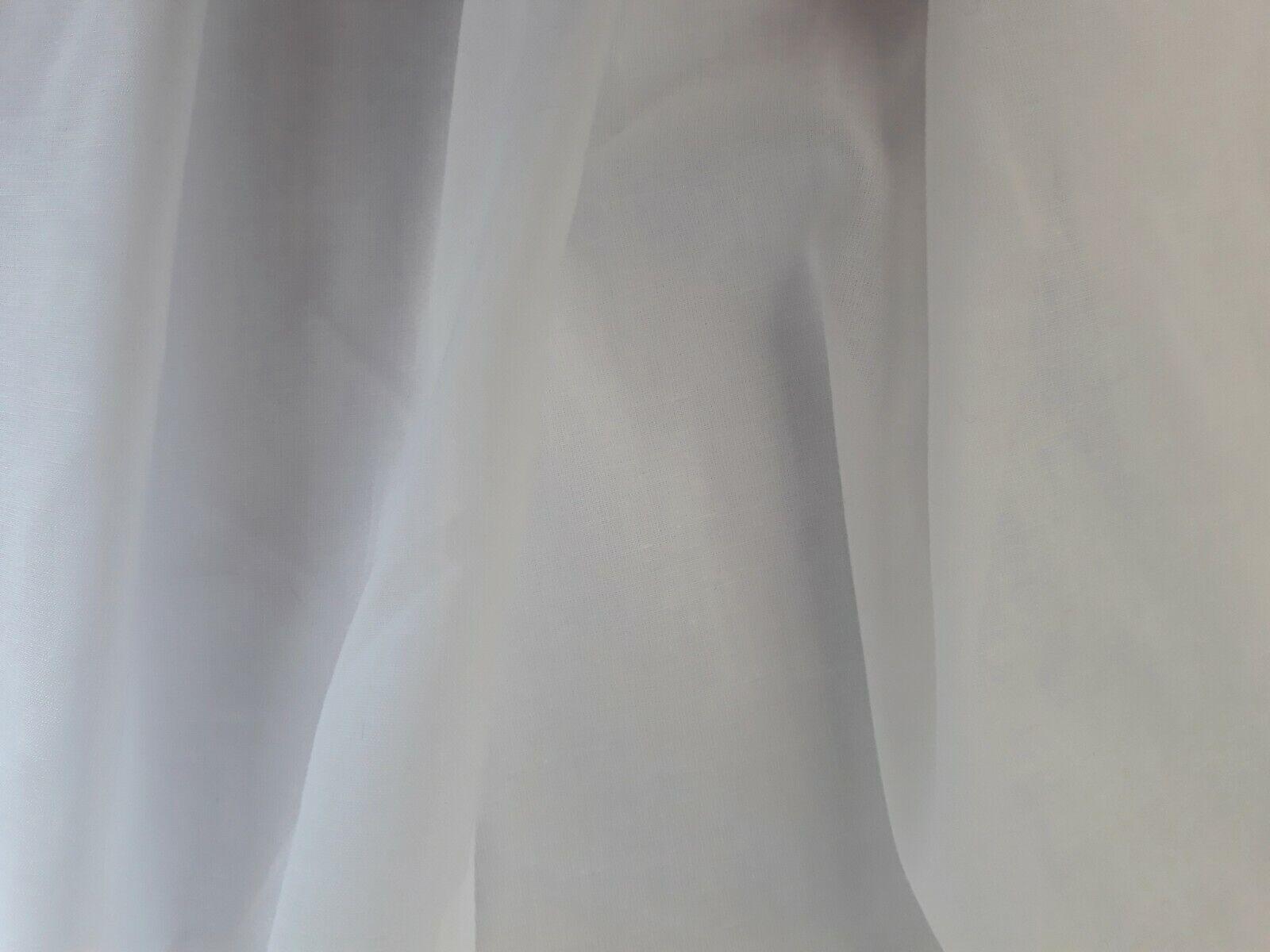 Plain Cotton Voile Fabric ES008CV-White-M